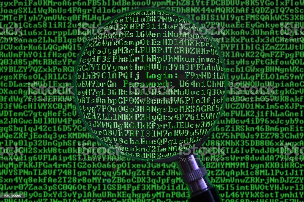Concept of computer hacking stock photo