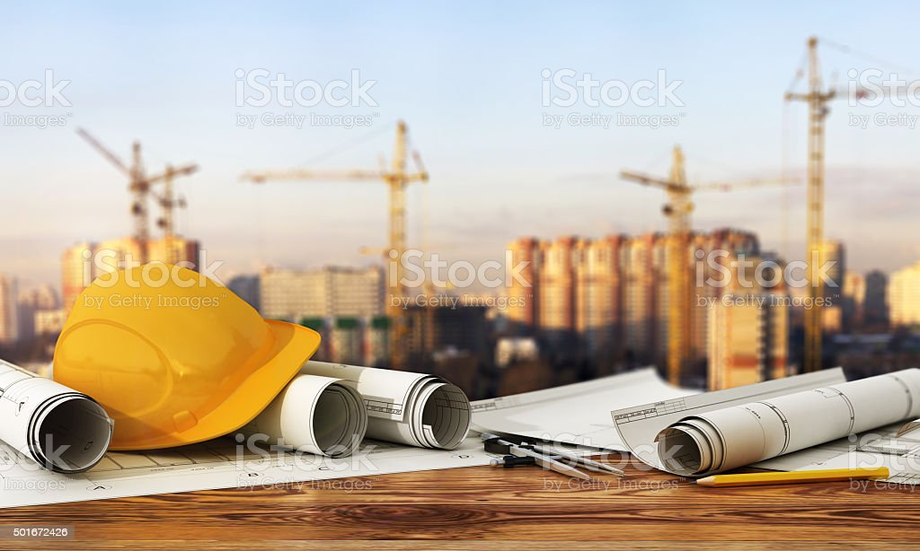 Concept of construction and design. royalty-free stock photo