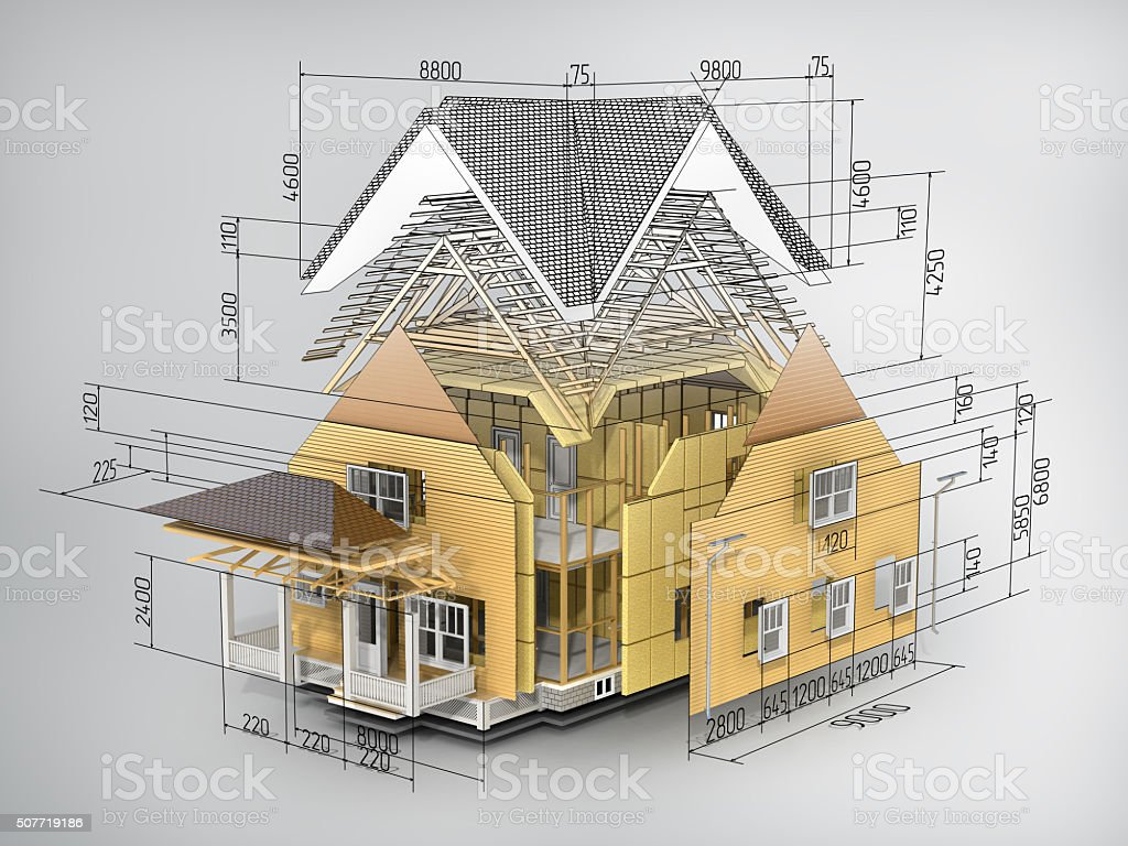 Concept of construction. stock photo