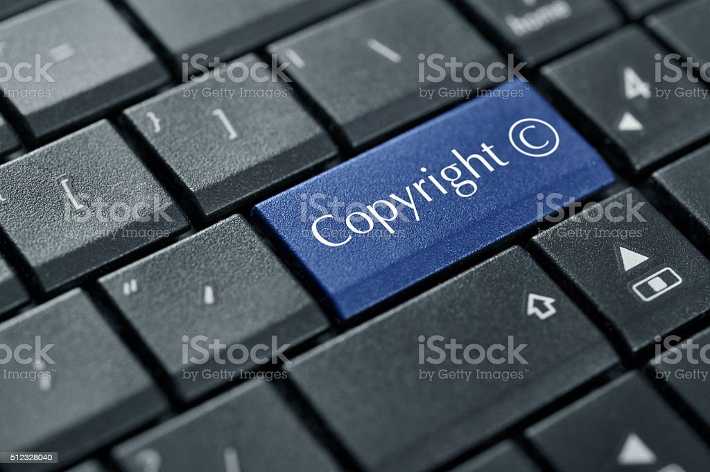 Concept of Copyright stock photo