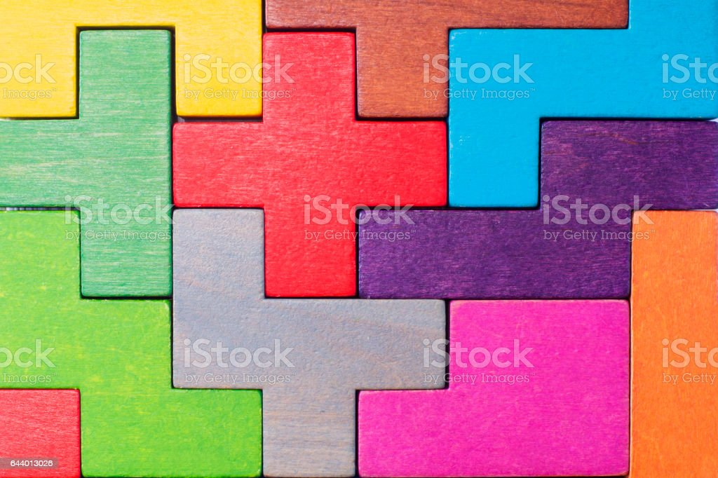 Concept of creative, logical thinking or problem solving. stock photo
