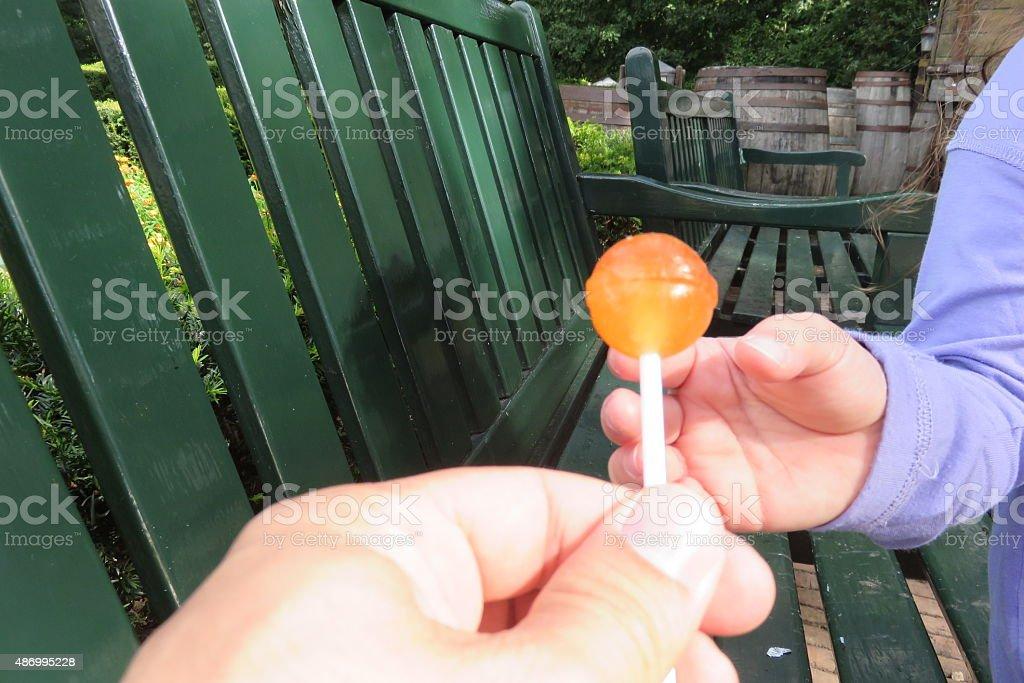 Concept of danger for small children stock photo