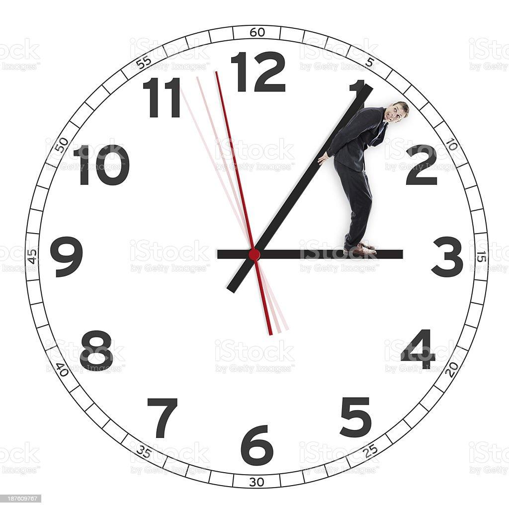 Concept of deadline, pressure stock photo