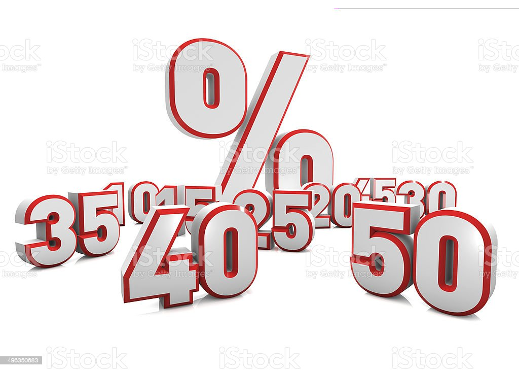 Concept of discount. stock photo