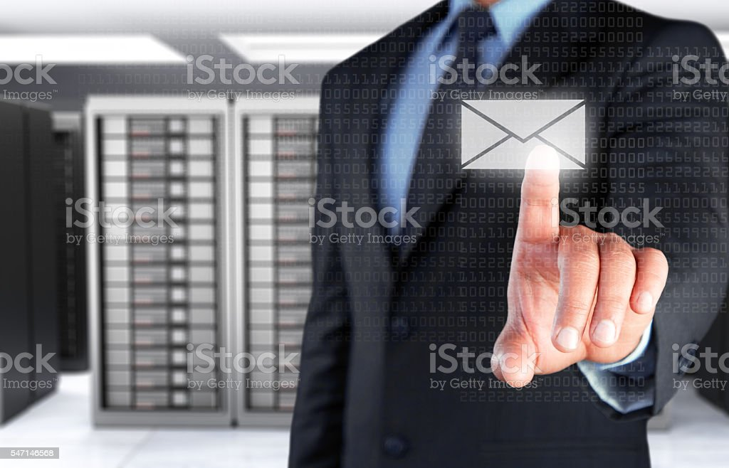 Concept of email protection stock photo