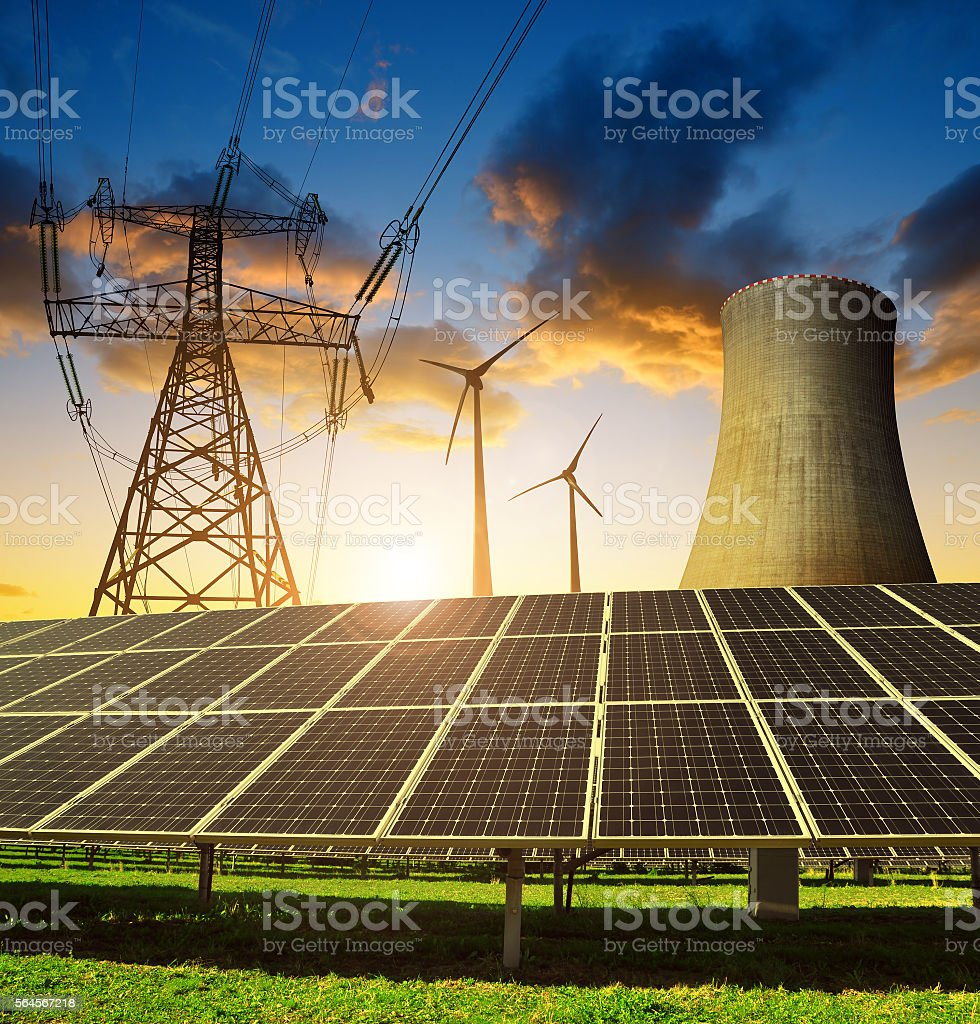 Concept of energy resources stock photo