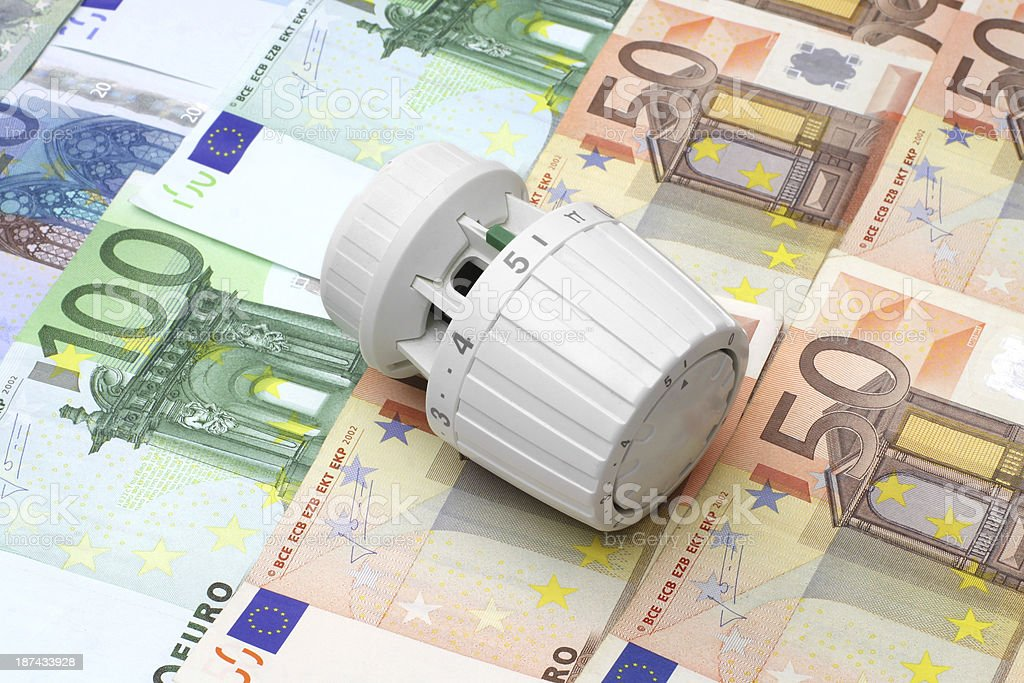 concept of expensive central heating and energy savings royalty-free stock photo