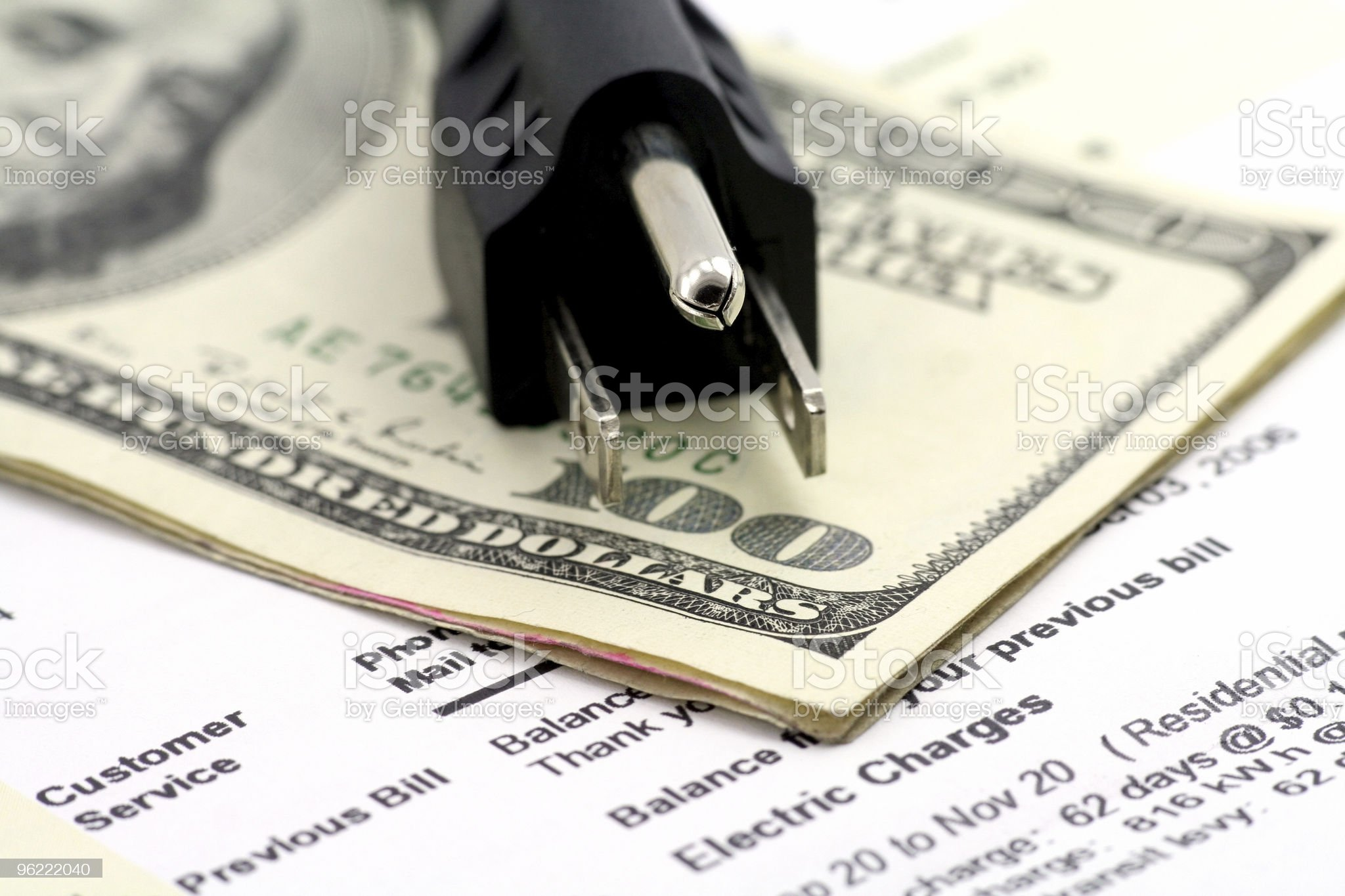 concept of expensive energy bill royalty-free stock photo