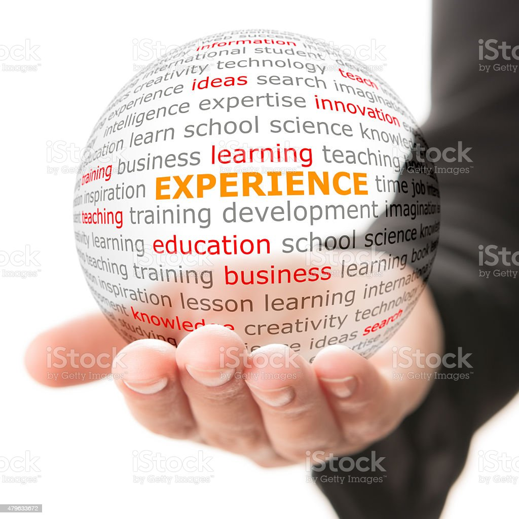 Concept of experience in business stock photo