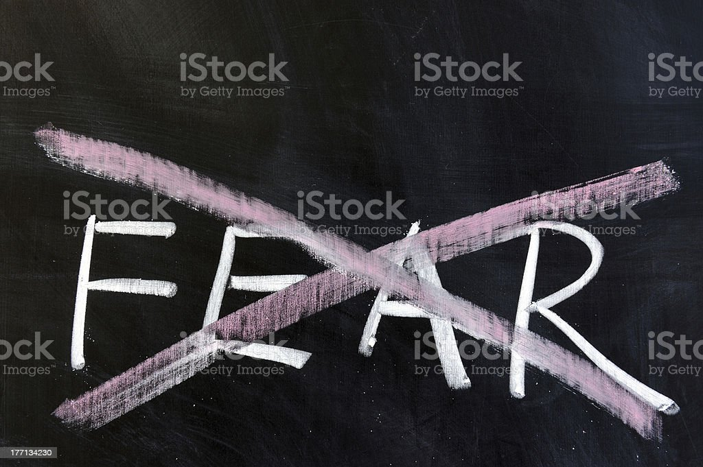 Concept of fearless royalty-free stock photo