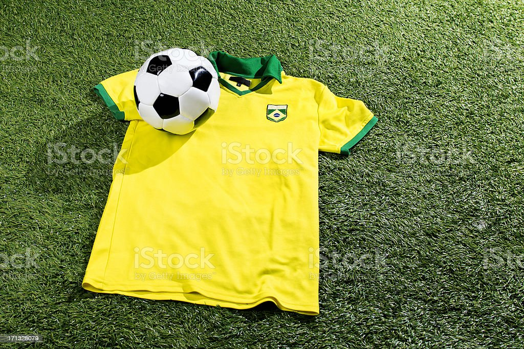 Concept of Fifa World Cup 2014 in Brazil royalty-free stock photo