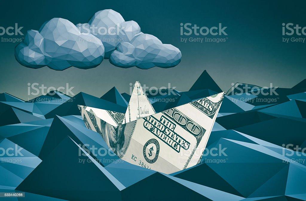 concept of financial crisis stock photo