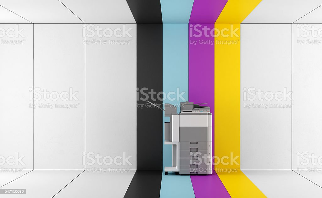 Concept of four-color printing stock photo