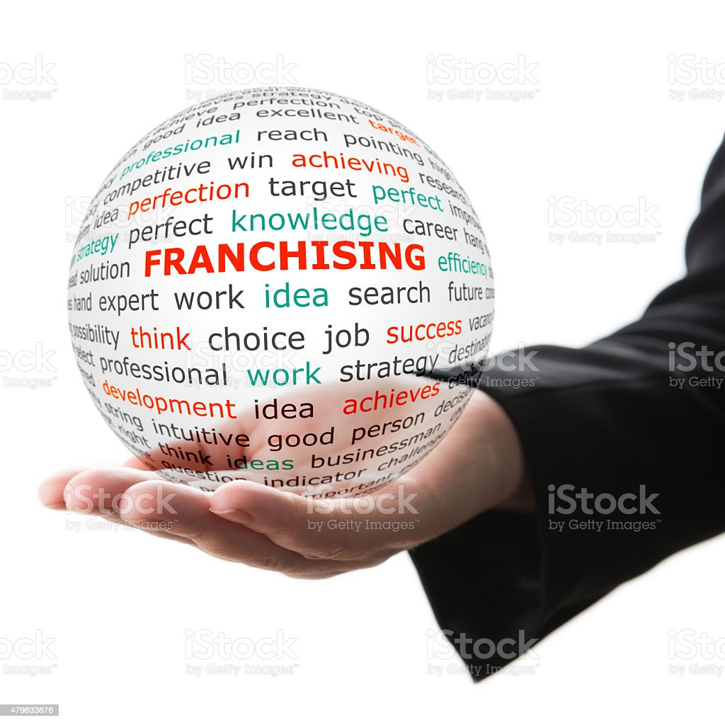 Concept of Franchising in business stock photo