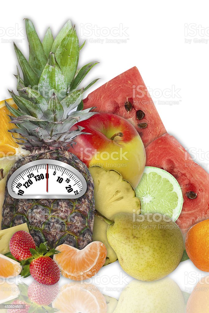 Concept of fruit diet stock photo