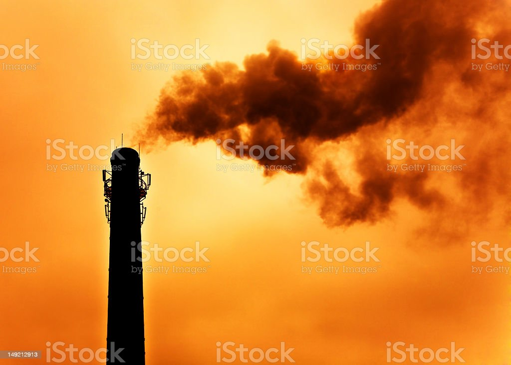 Concept of global warming. Intentional high contrast and warm tone. royalty-free stock photo