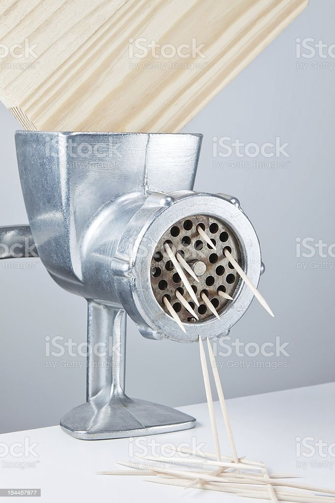 Concept of grinder and grinding wood. royalty-free stock photo