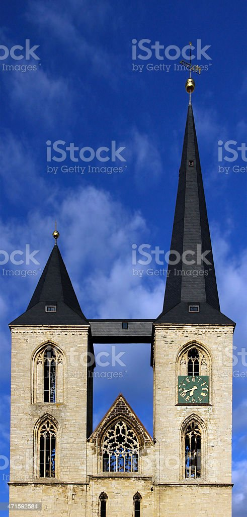 Concept of Growth or Investment (St. Martin Church, Halberstadt) stock photo