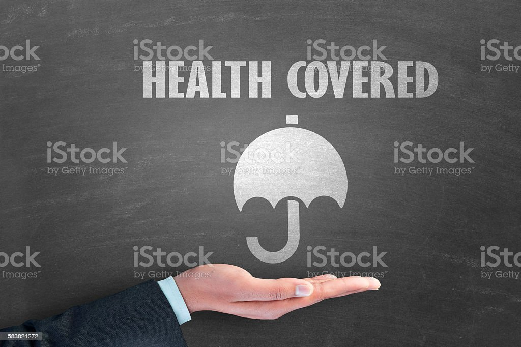 Concept of health insurance stock photo
