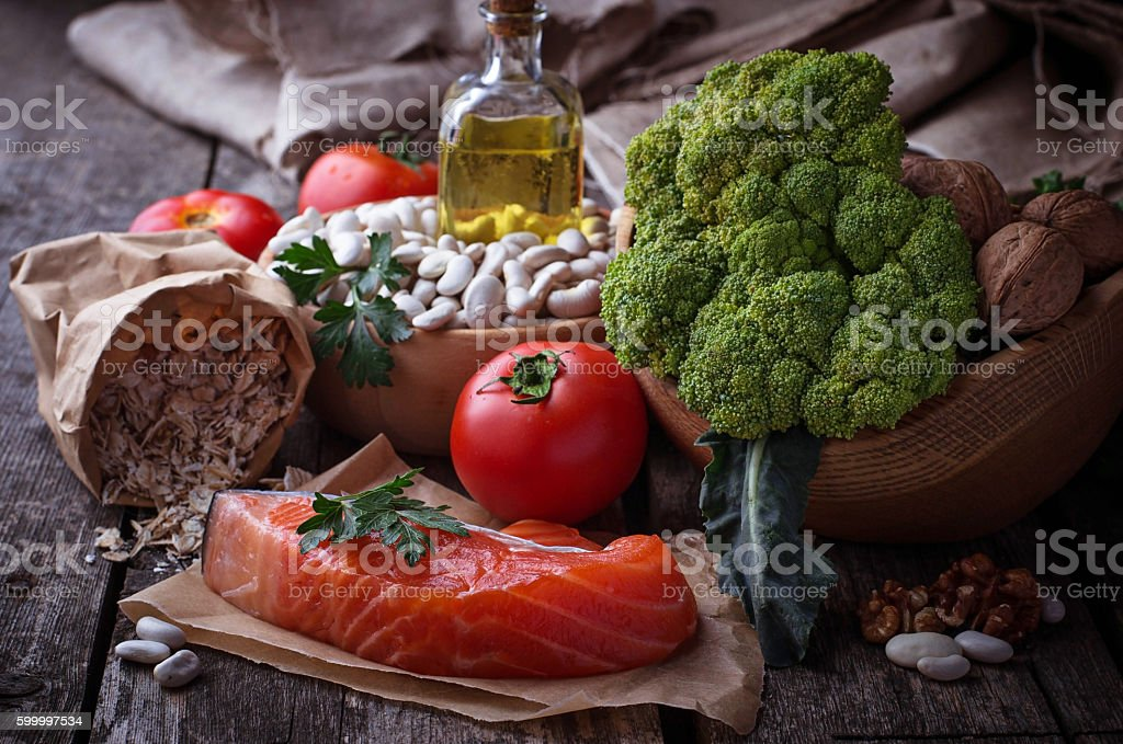 Concept of healthy food for heart stock photo
