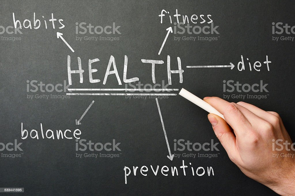 Health Diagram (Click for more) stock photo