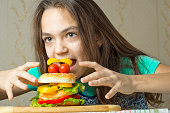 concept of hunger and unhealthy eating habits.