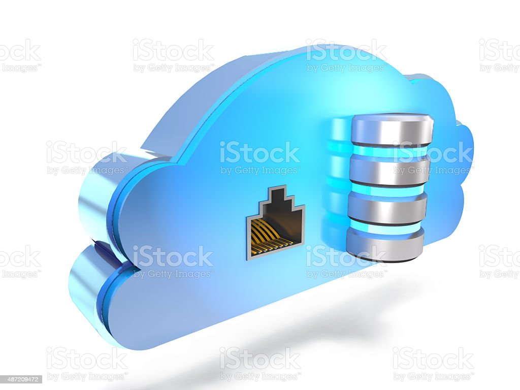 Concept of information cloud. stock photo