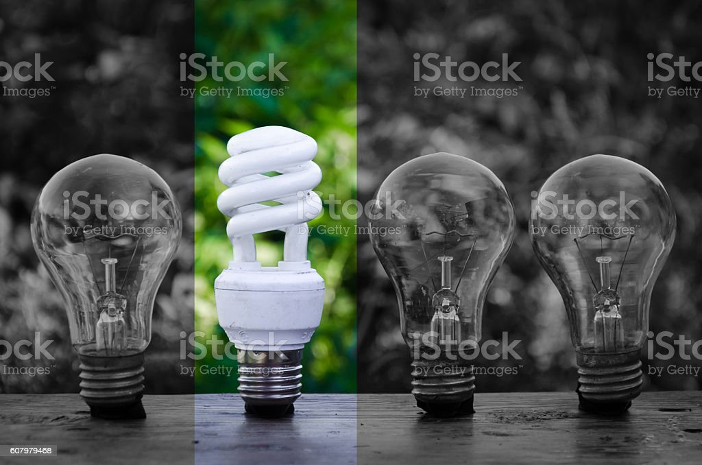 concept of innovation. Green energy stock photo