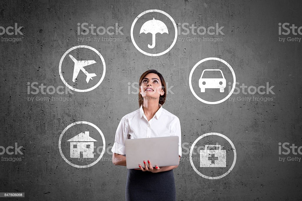 Concept of Insurance stock photo