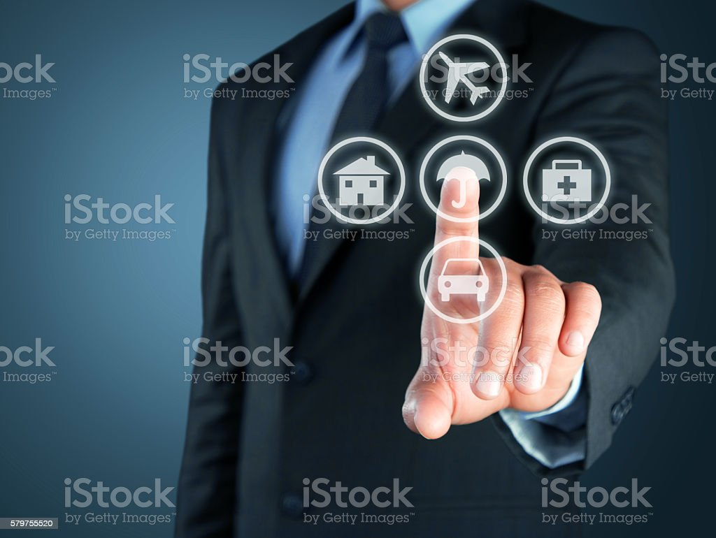 Concept of Insurance policy stock photo