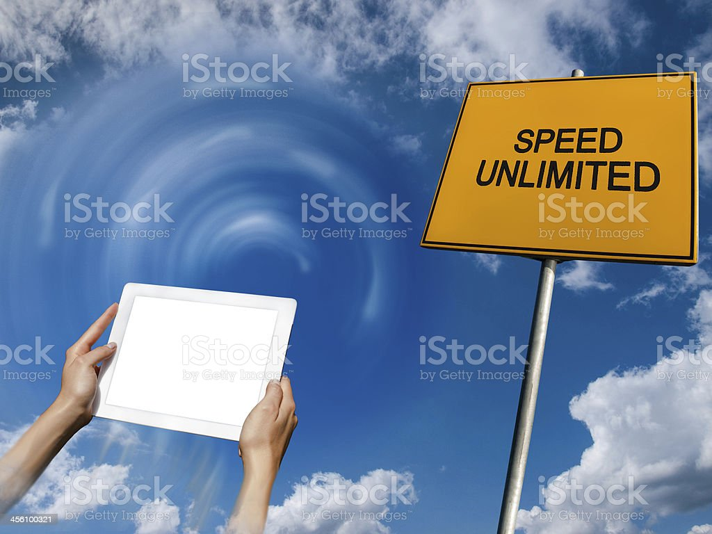 concept of internet speed changes royalty-free stock photo