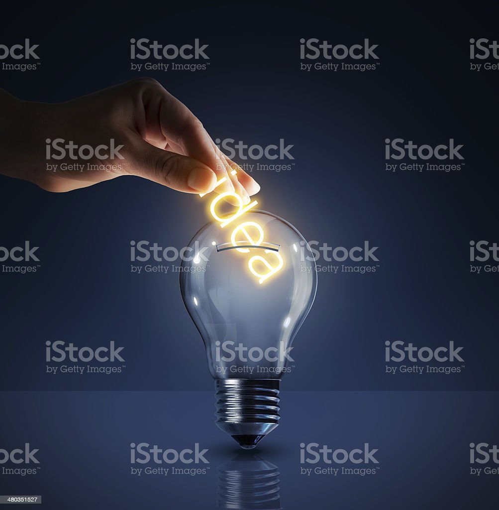 concept of investing in their ideas stock photo