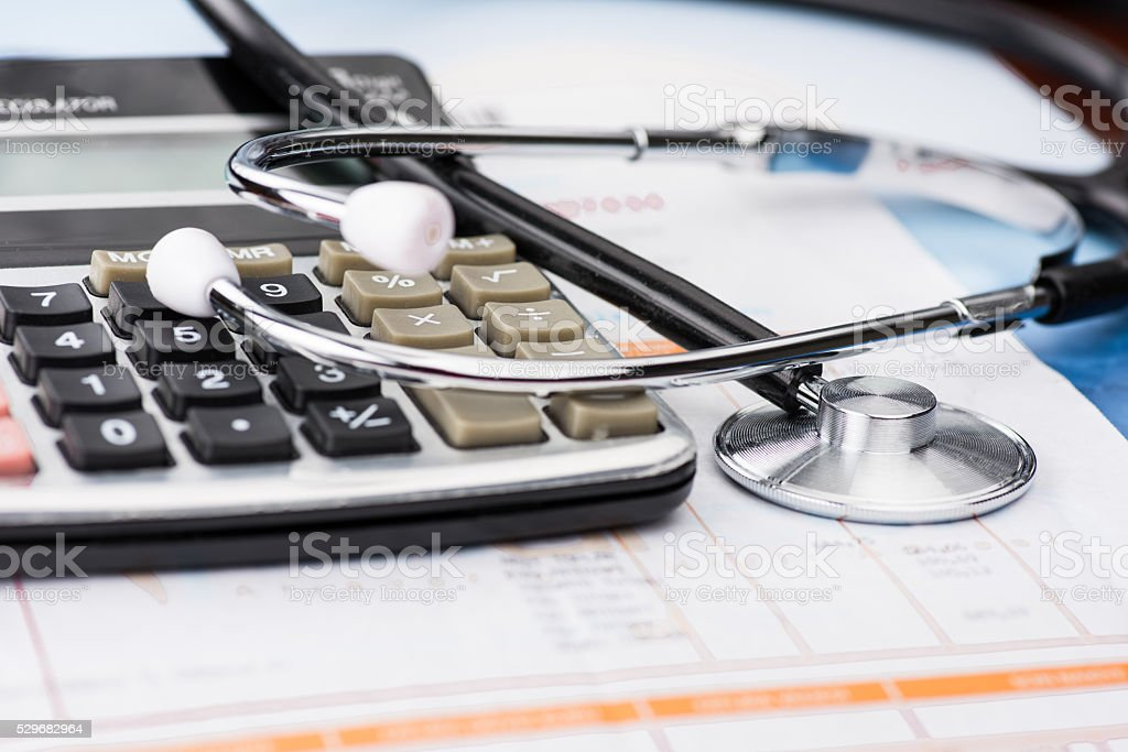 Concept of medical expenses stock photo