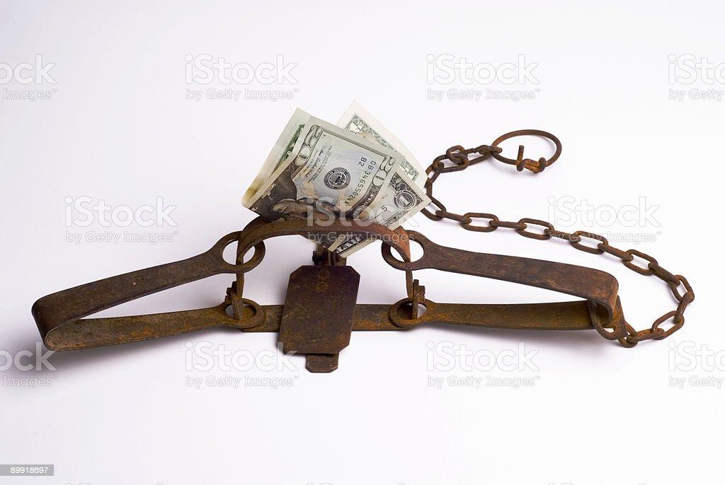 Concept of Money Trap stock photo