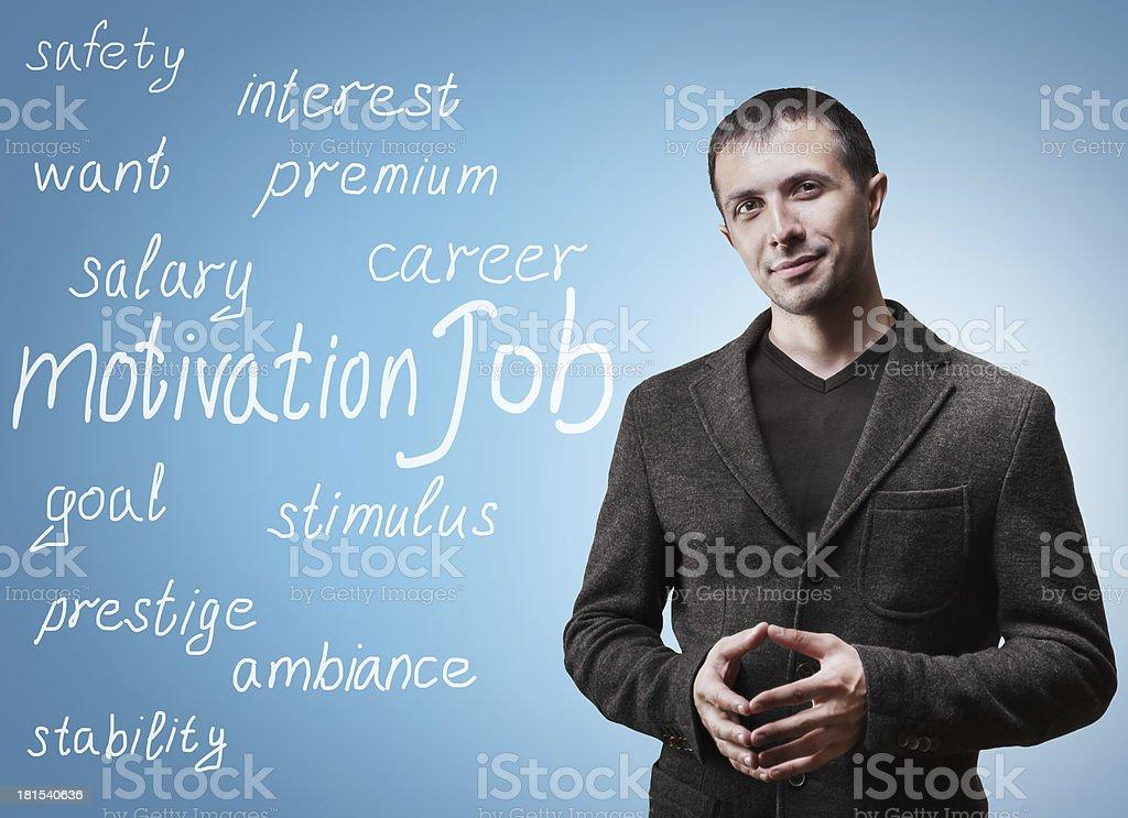 Concept of motivation job royalty-free stock photo