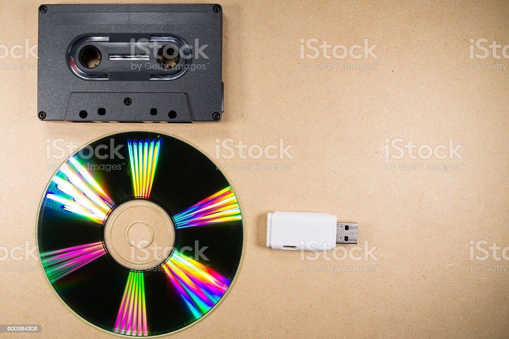 Concept of music evolution stock photo
