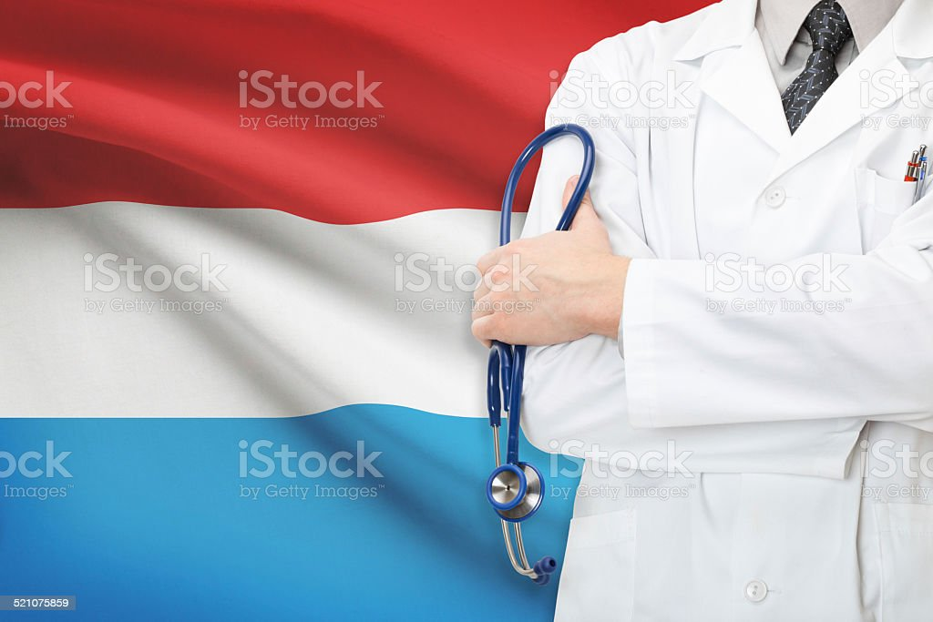 Concept of national healthcare system - Luxembourg stock photo