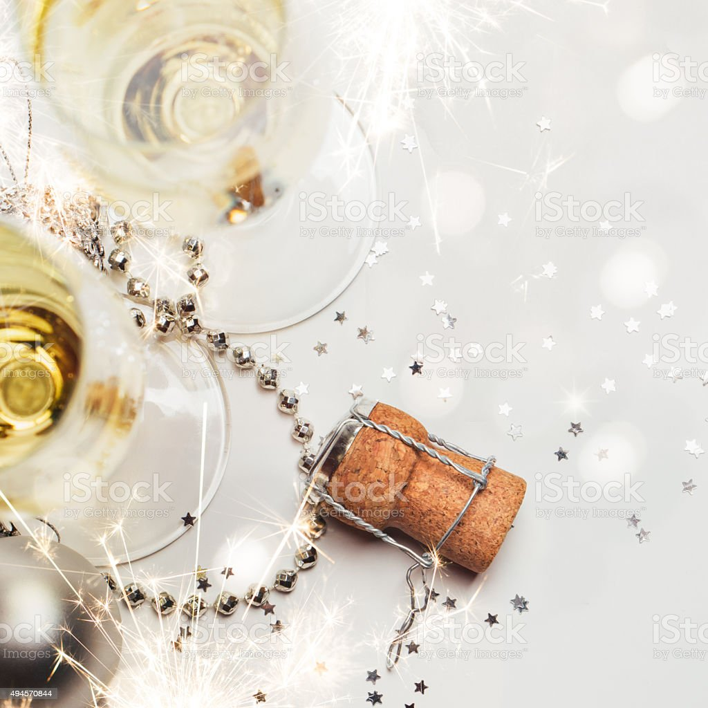 Concept of New year party background stock photo