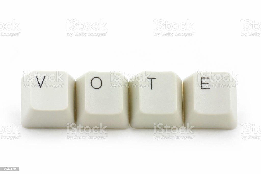 concept of online vote royalty-free stock photo