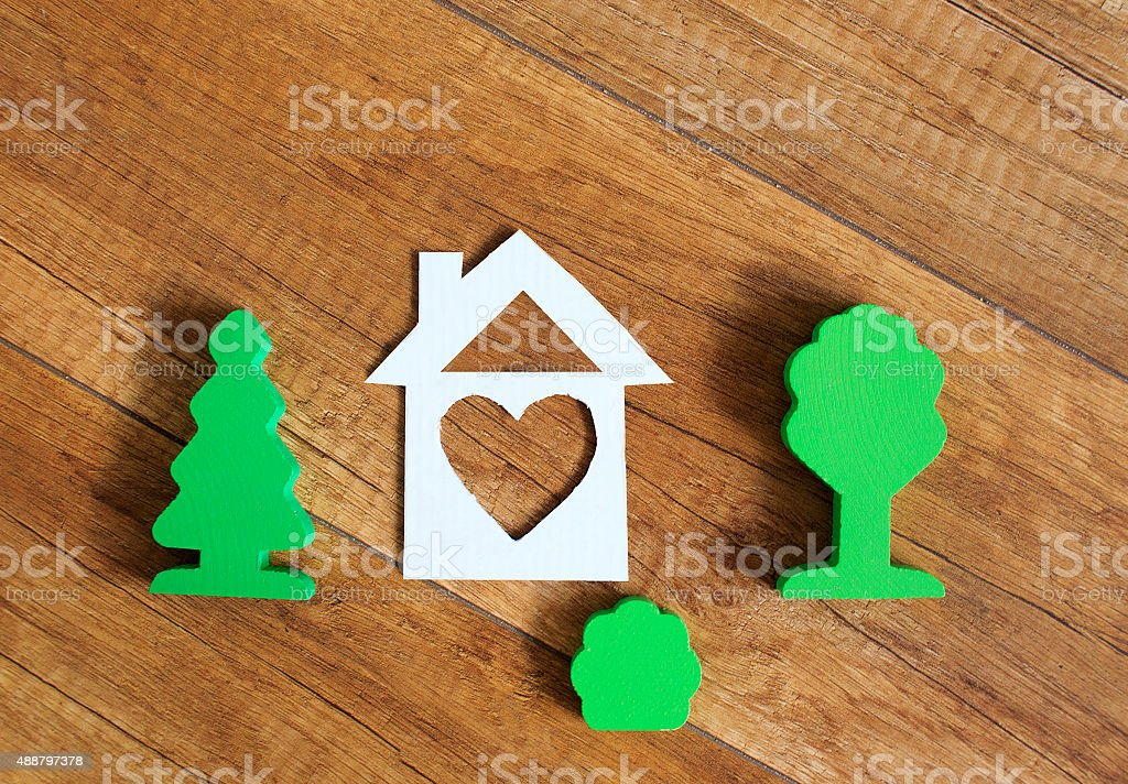 concept of parental home stock photo