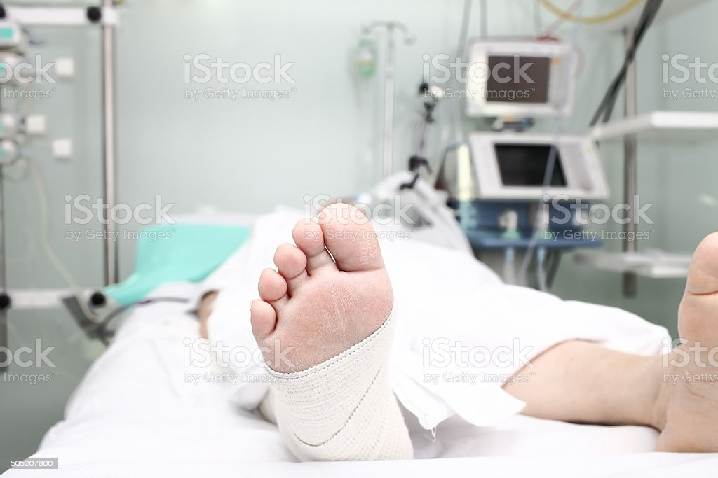 Concept of patients death stock photo