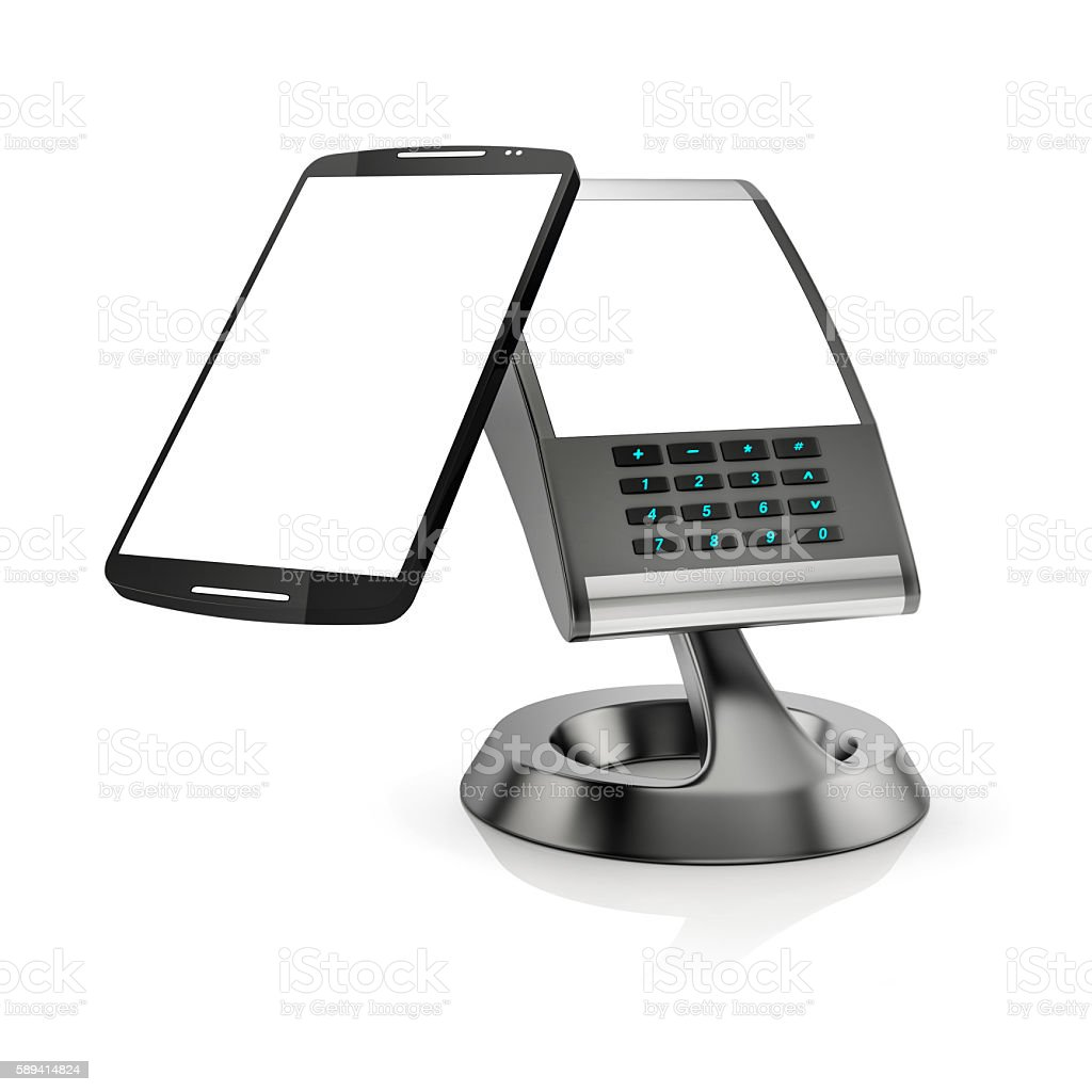 concept of paying with NFC technology on smartphone stock photo