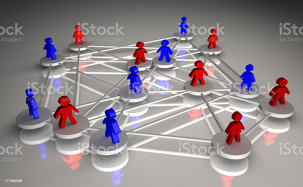Concept of people connected royalty-free stock photo