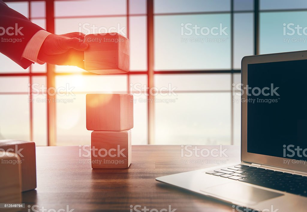 concept of planning in business stock photo