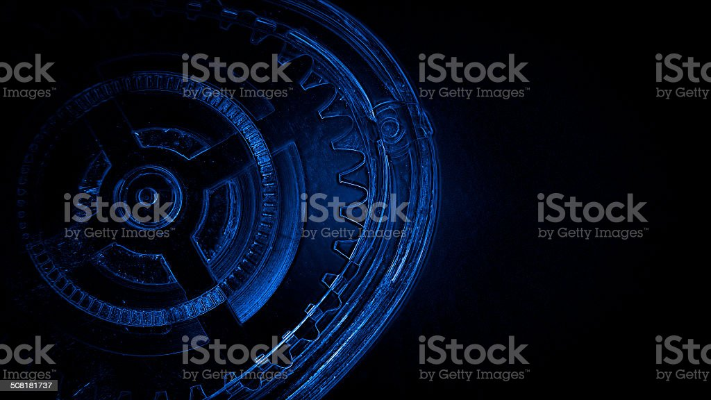 Concept of process, wheels, spinning, mechanical in motion stock photo