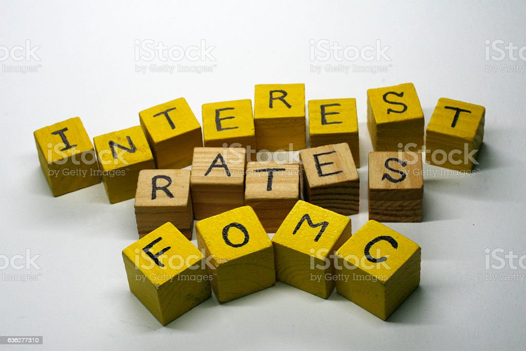 Concept of raising interest rates stock photo