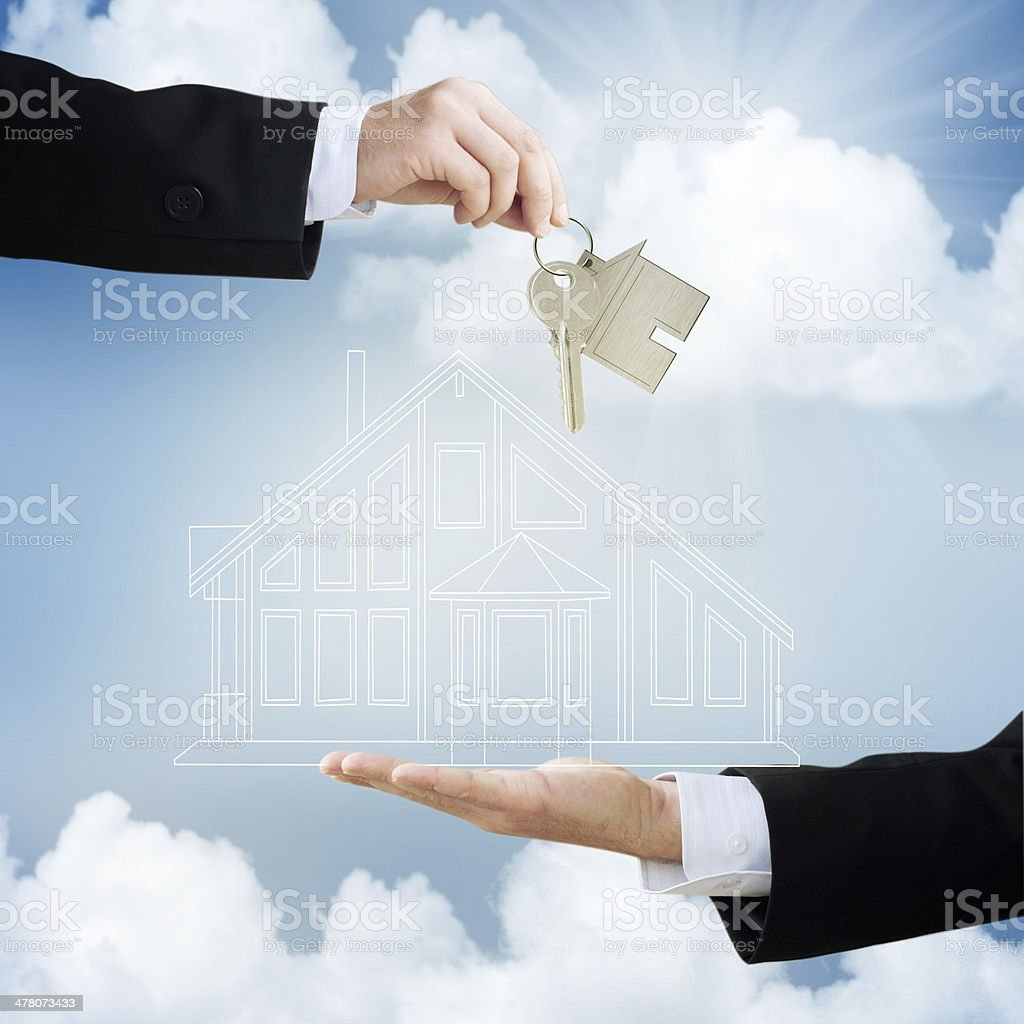 Concept of real estate transactions royalty-free stock photo