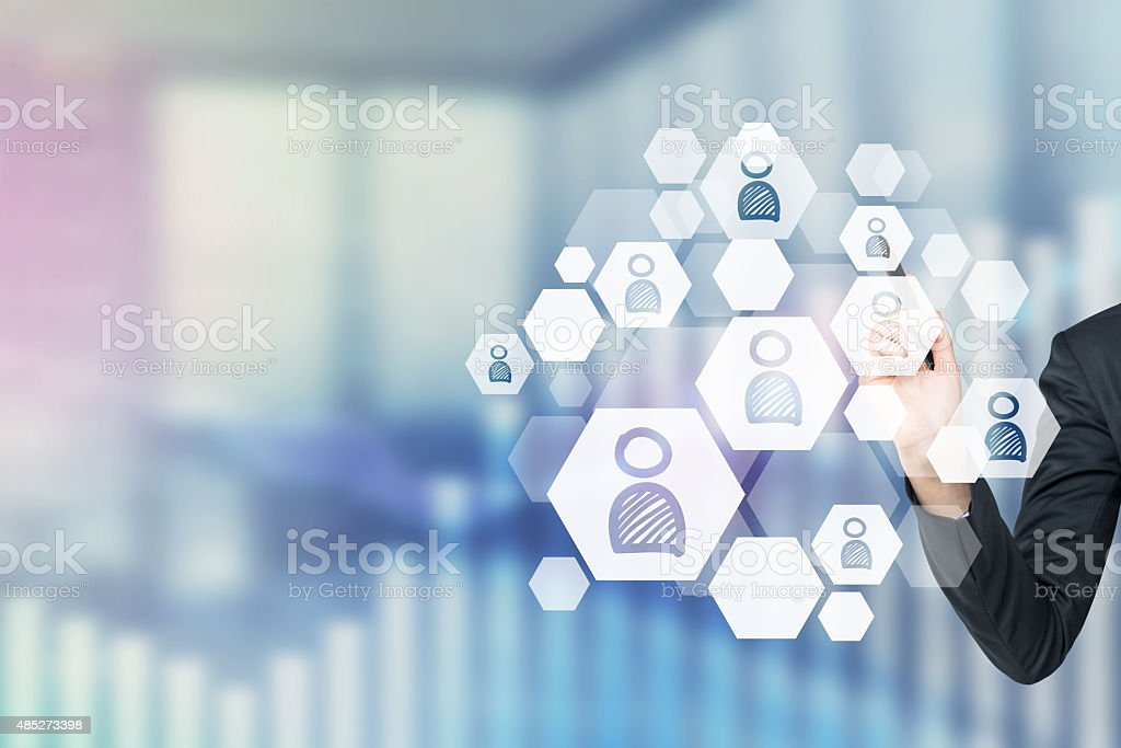 concept of recruitment process. stock photo