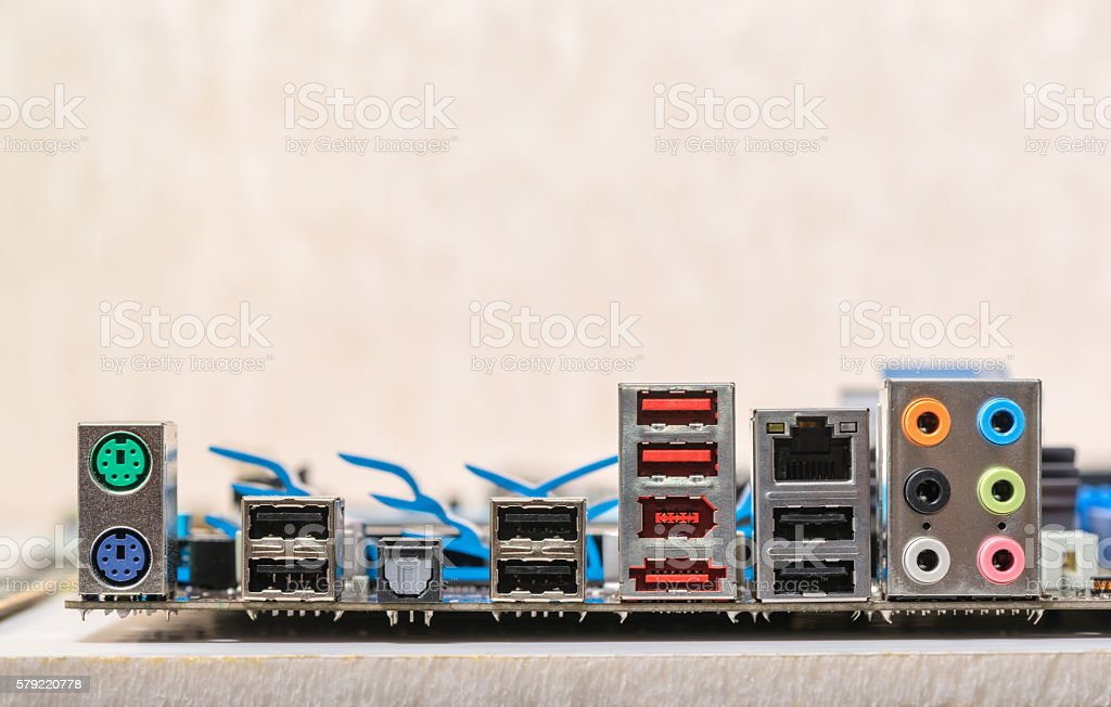 concept of repair and assembly sockets motherboard stock photo