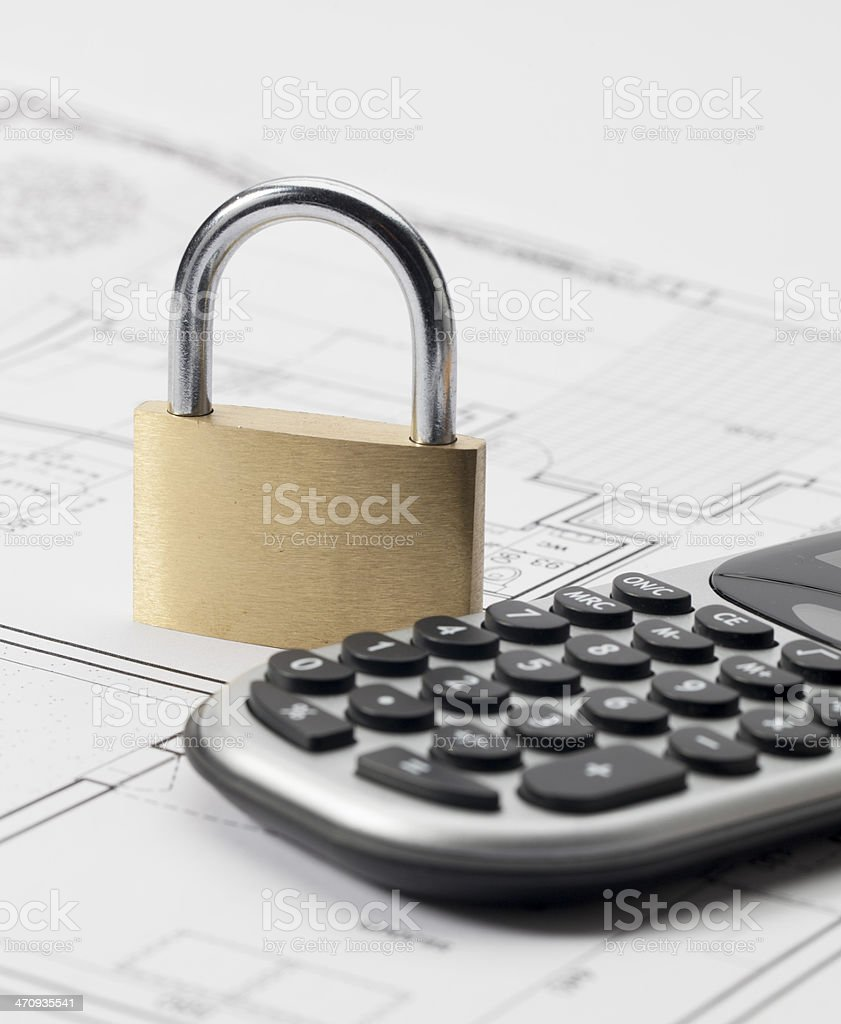 concept of safe building project royalty-free stock photo